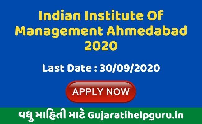 Indian Institute Of Management Ahmedabad Recruitment 2020